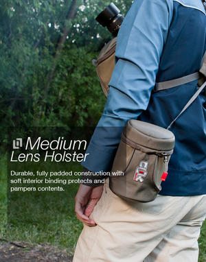 Medium Lens Holster - Grey