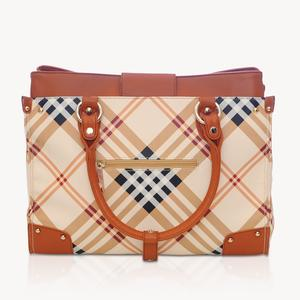 Valise - Tan plaid